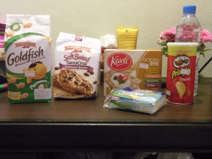 I had to post a photo of all of my American Snacks.  When a gal wants her processed she needs her Kraft Singles!