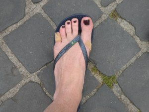My first purchase post tour... flip flops!  I'll never make that mistake again!