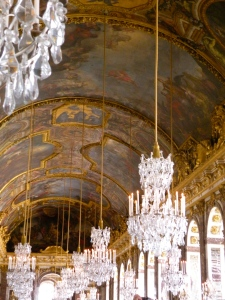 Chandeliers in the Hall of Mirrors