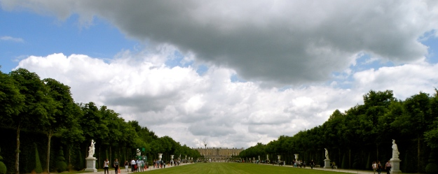 View of Versailles from the Apollo Fountain