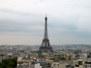 Eiffel Tower, view from the Arc de Triumph