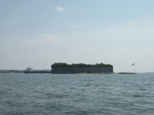 If you're out on the water be sure to look out for Fort Gorges!  A military building approved for the War of 1812 but never completed it's now on the National Register of Historic Places.  If the conditions are just right you can take a private boat or kayak to the island and explore.
