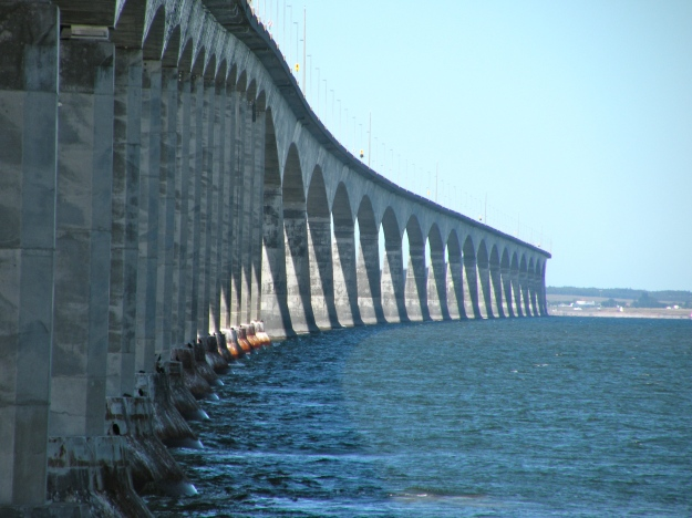 Confederation Bridge: One of the worlds longest bridges it connects PEI to New Brunswick and is over 8 miles long