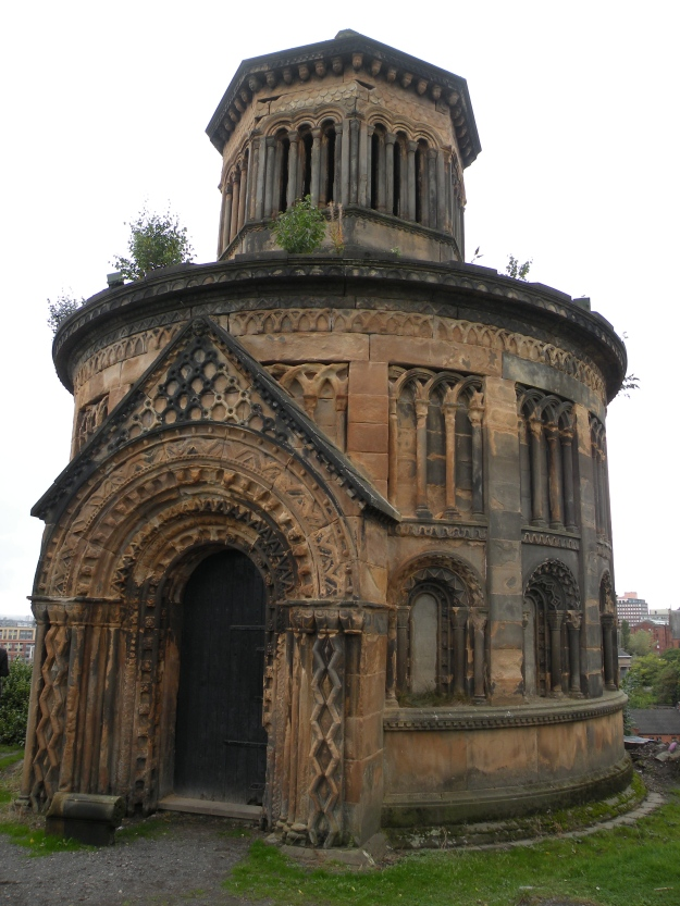 Monteath Mausoleum, the focal point of the cemetery